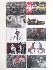 MR. BRAINWASH RARE ORIGINAL POP ART EXHIBITION EVENT POSTCARD PRINTS - SET OF 10