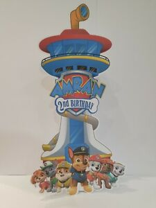 Paw Patrol Personalized Table Stand Up Decoration 35cm height
