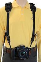 Trekking Safari Classic Camera Harness for DSLR & Binoculars. High Comfort Strap