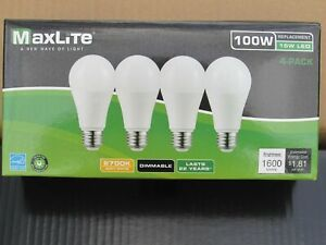4 pack New 100 Watt Equivalent A19 LED Light Bulbs Dimmable SOFT WHITE 2700K
