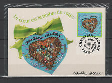 France 2001 coeur St-Valentin Christian Lacroix carte maximum /TR7804