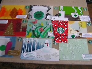10 x CANADA new Starbucks cards all different. LOT  XA3
