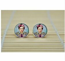 Frida Kahlo Earrings charm feminist Earrings jewelry glass Cabochon Earrings