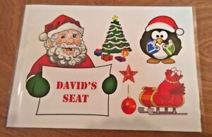 Personalised Christmas place mats , penguin - elf - gifts - Merry Christmas