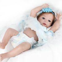 "Reborn Baby Dolls 22"" Lifelike Newborn Babies Full Vinyl Silicone Baby Girl Doll"
