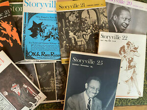 STORYVILLE  #13 thru 25 1967-68 EARLY 78 rpm Jazz reseach  magazine 1st issues