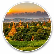 2 x Vinyl Stickers 7.5cm - Temples Bagan Myanmar Burma Cool Gift #3528