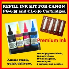 Refill Ink for Canon PG-645 and CL-646 cartridges, + syringes