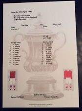 1946-47 Burnley v Liverpool FA Cup Semi Final Replay matchsheet