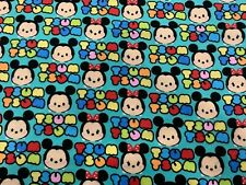 NEW TSUM TSUM MICKEY AND MINNIE FLANNEL MATERIAL 1 YARD SPRING CREATIVES