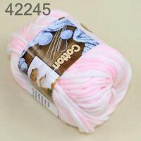 Sale 1Skein x50gr Soft Cotton Chunky Super Bulky Hand Knitting Crochet Yarn 45