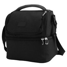 Miuline 7L Dual Compartment Insulated Lunch Bag Cooler Bag School Picnic Work 00
