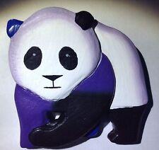 New Panda Bear Pin Brooch Black White Color Tone Animal Large Jewelry Teddy Cute