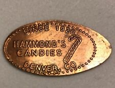 Hammond's Candy Factory Denver Co Pressed Elongated Penny