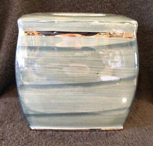 Nicole Miller Tissue Box Holder Cover Oasis Boutique Silver Trim