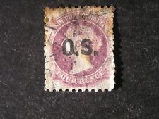 South Australia, Scott # O37, 4p .Value Dull Violet 1874-75 Official Issue Used