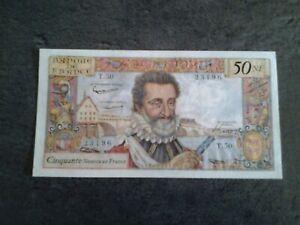 50 Nouveaux Francs, Henri IV du  7 - 4- 1960  N° 23196