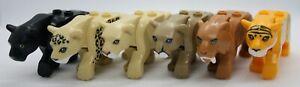 Lego Animals- Tiger Leopard Lioness Black Panther Mountain Lion Sabertooth