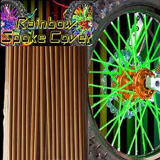 Spoke cover Spoke Tubes Wraps Skins Ribb Speichen Überzug 72 Stck Gold Rainbow
