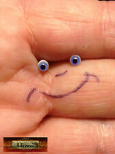 M00634 MOREZMORE Miniature. Glass Eyes 3mm BLUE Small Mini Tiny Doll Baby T20