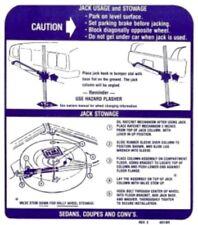 PONTIAC 1971-72 GTO, LeMans, Tempest & Grand Prix Jack Usage Decal 481169