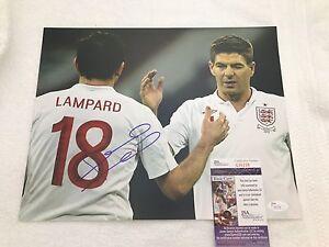 FRANK LAMPARD Signed Autographed 11x14 Photo England Chelsea Man City JSA COA 1