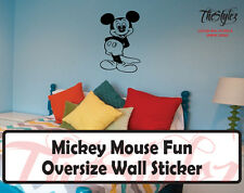 Walt Disney - Mickey Mouse Fun Cartoon Logo Wall Vinyl Sticker