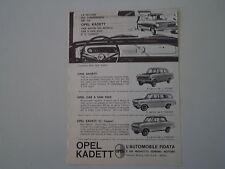 advertising Pubblicità 1963 OPEL KADETT 1000/CARAVAN/L