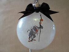 "Handmade Disney Lion King ""Rafiki"" 3"" Round Glass Ornament~Made In The USA, NEW"