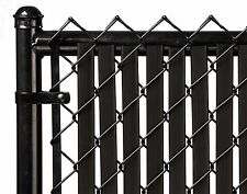 Chain Link Black Double Wall Tube™ Privacy Slat For 6ft High Fence Bottom Lock