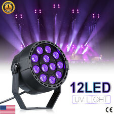 12W UV Light Black LED 7CH Par Can Stage Lighting DMX Disco DJ Party Show Xmas