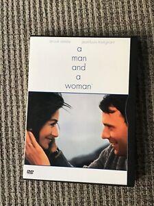 A MAN AND A WOMAN RARE 1966 OSCAR WINNER, OOP DVD