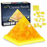 Wisdom 3D Crystal Puzzle Jigsaw Blocks Assembling Pyramid Model Toys Kids Gift