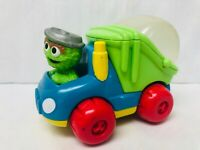 Oscar the Grouch Pop and Go Garbage Truck Vehicle 1998 Tyco Preschool Toy