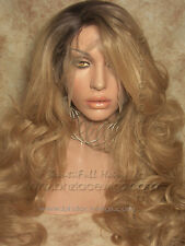 Dark Root Gold-blonde lace front Charm, Kim Kardashian lace front wig, ombre