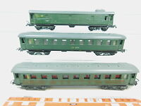 AZ371-1# 3x Piko H0/DC Personenwagen etc DR: 18350/Bln + 000213/Pw 4ü; VEB/DDR