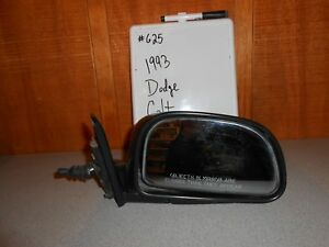 USED 1993 Dodge Colt; Right Manual Side Mirror #625