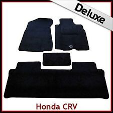 HONDA CR-V Manual Mk2 2001-2006 Tailored LUXURY 1300g Carpet Car Mats BLACK
