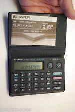 SHARP EL-6061, MEMO MASTER, ELECTRONIC ORGANIZER/CALCULATOR...WORKS !!