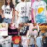 Fashion Womens Summer Short Sleeve Shirt Casual Blouse Loose Cotton Tops T Shirt