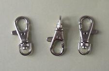 10 Níquel Plateado KEYRING Broches estilo 8, cierre de gatillo con conector giratorio