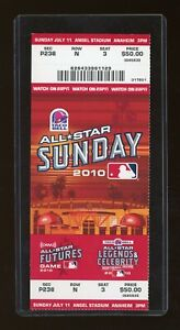 2010 MLB All Star Game Anaheim Futures MIKE TROUT USA DEBUT TICKET STUB 07/11/10