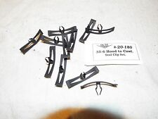 55 56, 58-59-60 CHEVY  Hood to Cowl Seal Clips, Holds rubber seal to Firewall