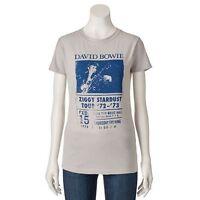 David Bowie ZIGGY STARDUST TOUR Girls Women's T-Shirt Licensed & Official RARE!!