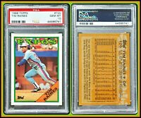 1988 Topps #720 Tim Raines PSA 10 Gem Mint Expos MLB Baseball HOF