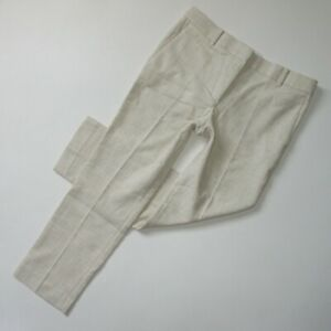 NWT Ann Taylor The Ankle Pant in Natural Texture Devin Fit Crop Trousers 6