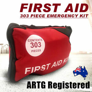 303PCS ARTG Registered First Aid Kit Survival Bag Sticker Family Car Camping AU