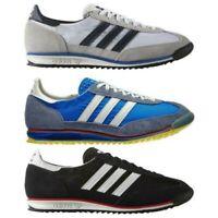 Adidas Originali UOMO Sl 72 Vintage Scarpe da Ginnastica Nere Navy Bianco Tennis