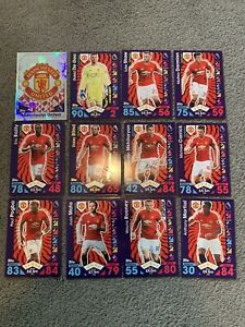 Manchester United 12 Cards Match Attax 2016/17