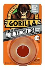 P-2 X GORILLA GLUE 3044101 1.5 m Heavy Duty Double Sided Mounting Tape - Clear